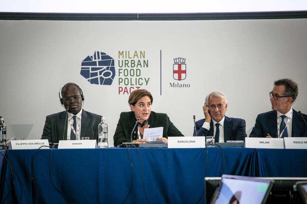 Il sindaco di Dakar Khalifa Sall, il sindaco di Barcellona Ada Colau, il sindaco di Milano Giuliano Pisapia e Paolo Magri, vicepresidente Ispi